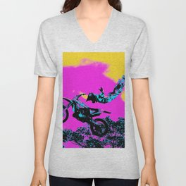 Letting Go - Freestyle Motocross Stunt Unisex V-Neck