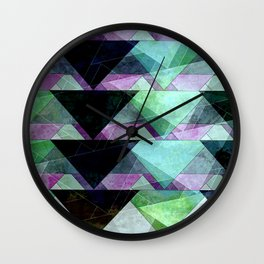 black, green & purple Wall Clock