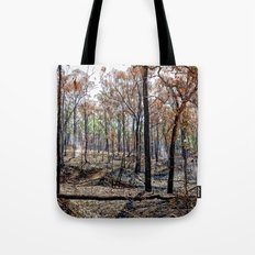 Fire damaged forest Tote Bag