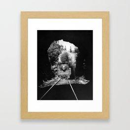 Choo Choo in the Tunnel - Tchou-Tchou dans le Tunnel Framed Art Print
