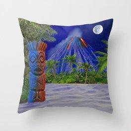 Tiki Art Background Throw Pillow
