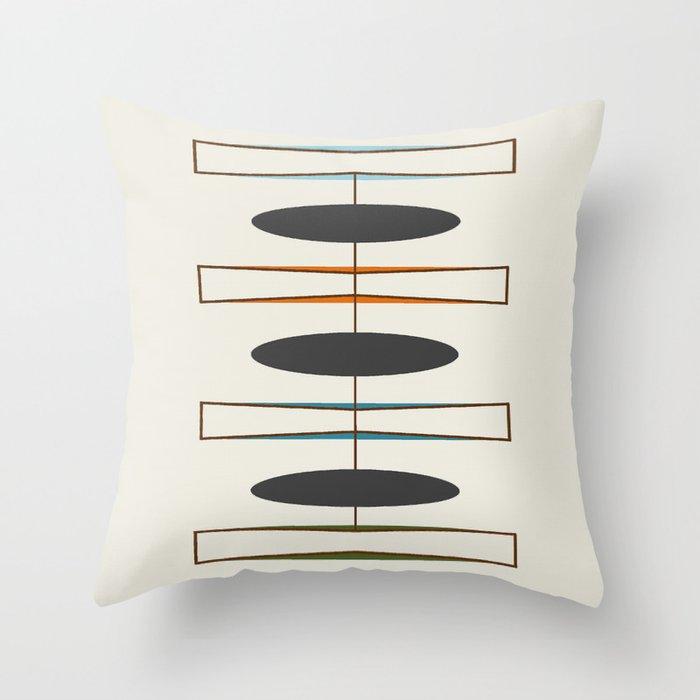 Mid-Century Modern 1.1 Throw Pillow