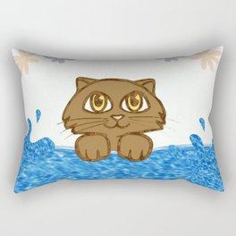 Cute Cat in Bath Tub Rectangular Pillow