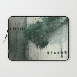 Last Kiss: a minimal, abstract watercolor piece in greens Laptop Sleeve