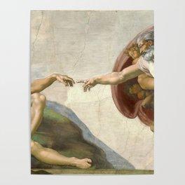 Michelangelo - Creation of Adam Poster