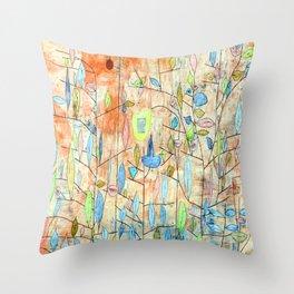 Paul Klee Sparse Foliage Throw Pillow
