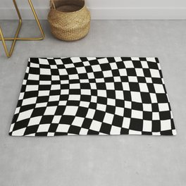 Black and White Distortion Rug
