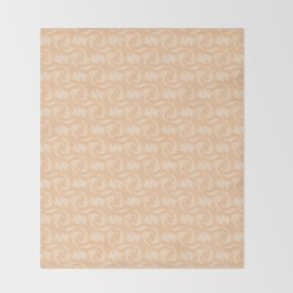 Beige , yellow , abstract pattern Throw Blanket