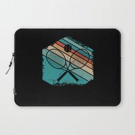 Retro sunset Tennis gifts Laptop Sleeve