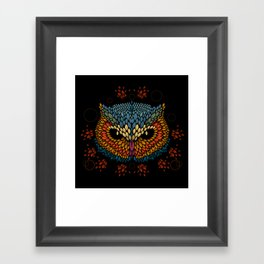 Owl Face Framed Art Print