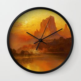 Thomas Moran - The Golden Hour - Digital Remastered Edition Wall Clock