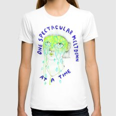 One spectacular meltdown at a time MEDIUM White Womens Fitted Tee
