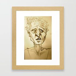 'sup (on the subway) Framed Art Print