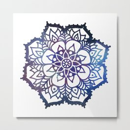Galaxy Freehand Mandala Metal Print