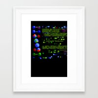 biology Framed Art Prints featuring Conquer Biology by Leone Bachega