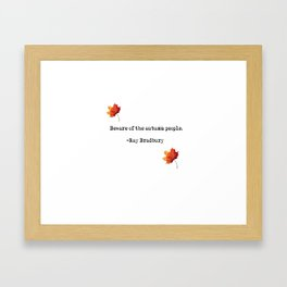 autumn people Framed Art Print