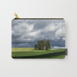 Tree Group in Green Field Carry-All Pouch