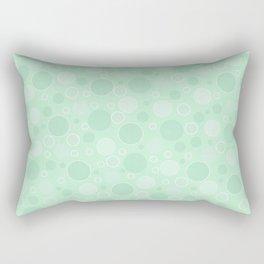 Light green polka dots Rectangular Pillow