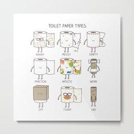 toilet paper types Metal Print