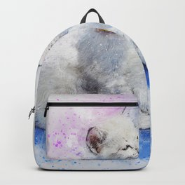 Cat Dog Cute Art Abstract Watercolor Vintage Backpack