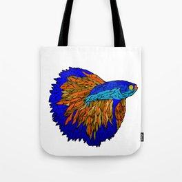 Betta Fighting Fish _ Orange Tote Bag