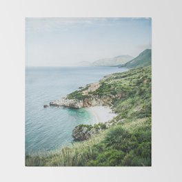 Beach - Landscape and Nature Photography Throw Blanket