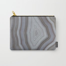 Neutral tones agate Carry-All Pouch