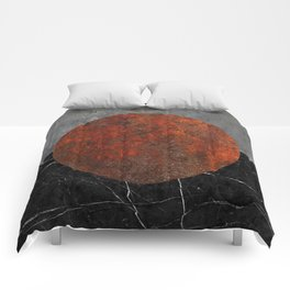Abstract - Marble, Concrete, and Rusted Iron II Comforters