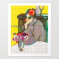 Lego: Femme et anemones Art Print
