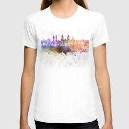Innsbruck skyline in watercolor background T-shirt