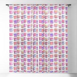 Coffee Mugs - Pink Colors Sheer Curtain