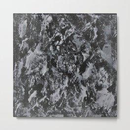 White Ink on Black Background #4 Metal Print