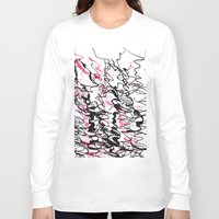 champagne Long Sleeve T-shirts featuring champagne by austeja saffron