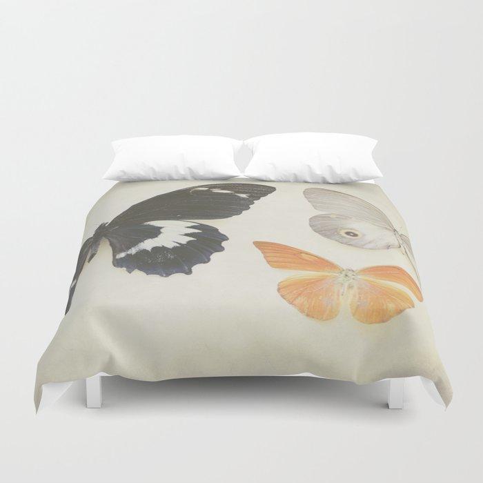 Brown Butterflies  Duvet Cover