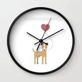 I'm Just a Love Mutt Wall Clock
