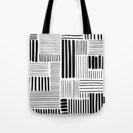Black and White Abstract Pattern Tote Bag