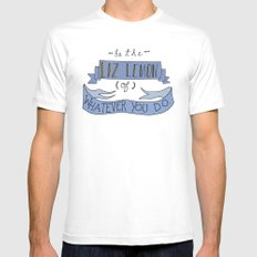Liz Lemon Mens Fitted Tee MEDIUM White