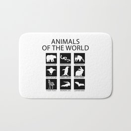 RARE ANIMALS OF THE WORLD Bath Mat