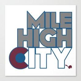 Mile High City - A Canvas Print