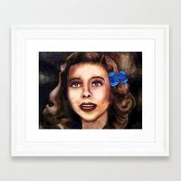 dorothy Framed Art Prints featuring Dorothy by Amanda Lee