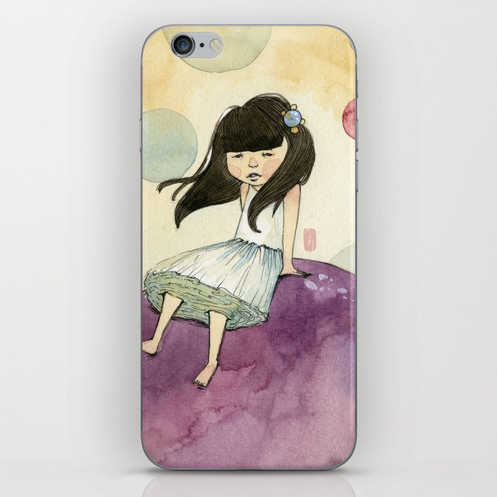 a bubble girl iPhone Skin