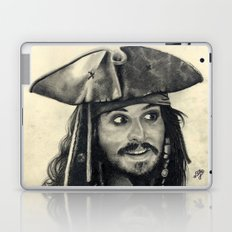 Captain Jack Sparrow ~ Johnny Depp Traditional Portrait Print Laptop & iPad Skin