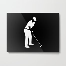 Golf player Metal Print