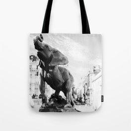 Elephant in Paris Tote Bag