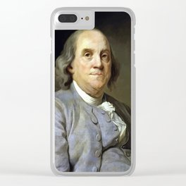 Benjamin Franklin Clear iPhone Case