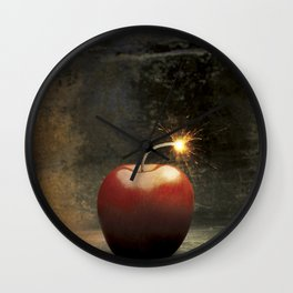 Apple bomb Wall Clock