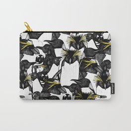 just penguins black white yellow Carry-All Pouch