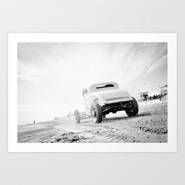 Beach race 11139 Art Print