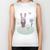 friendship Biker Tanks featuring Friendship by Esther Ilustra