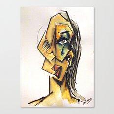 Crying woman Canvas Print